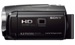 Sony-HDR-PJ670-with-Projector